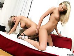 Blonde Ivana Sugar with gigantic breasts and