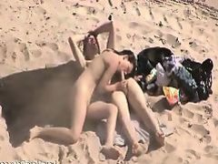 Horny Couple Fucking At The Beach