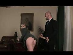 Teacher fucks two schoolgirls and spank them
