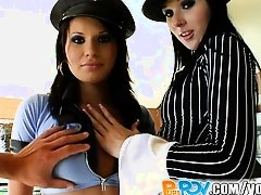 Pure Pov It's bad girl vs good cop in role play pov
