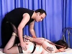 Mature Jays busty bdsm and hogtied bondage