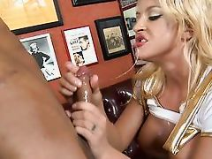 blonde in uniform loves sucking dick