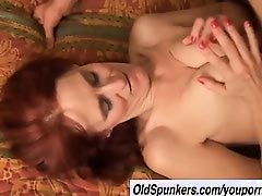 Debra is a skinny mature redhead who loves the taste of cum