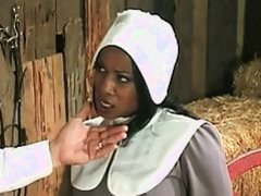Black Babe Gets Fucked In The Hay !