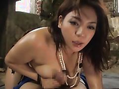 japanese with huge tits plays dirty outdoor