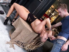 Samantha Saint with juicy melons has dick-hungry fuck