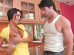 Hot Milf Dylan Ryder fucks in the kitchen