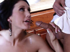 Dylan Ryder is in heaven eating guys rock hard dick