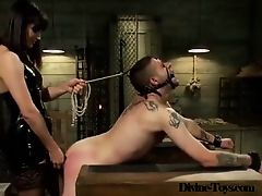 Hot Bitch Abuses Slave-Divine-toys.com