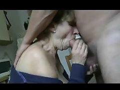 Granny Kitchen Blowjob