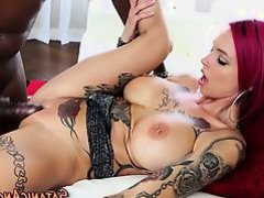 Tattoo babe gets facial
