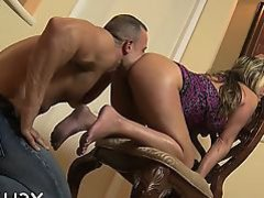 Seductive darling smothering a-hole in adventurous trio