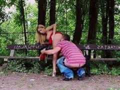 Outdoor sex with hot Russian chick Isabella Clark