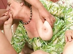 Very old granny enjoys hard sex