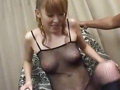 Busty korean slut banged on the table