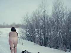 Alisa Shitikova Naked Snow Run in Me Too