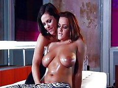 Busty lesbian Natasha Nice and Bobbi Starr