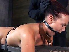 superb ass brunette punished