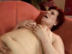 Sexual fat granny receives fucked hard