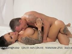 Unblemished brunette tattooed babe Christy Mack banged